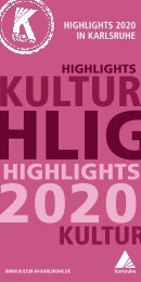 Kultur Highlights 2020 in Karlsruhe