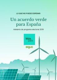Un acuerdo verde para España