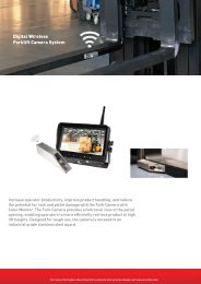 Battery-powered Wireless Forklift Camera System