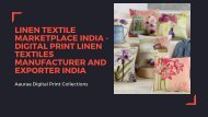 Aauraa Digital Print Collections - Linen Textile Marketplace India - Digital Print Linen Textiles Manufacturer and Exporter India