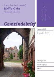 Gemeindebrief August / September 2019