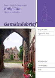 Gemeindebrief August / September 2019
