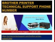 Brother Printer Technical Support Phone Number +1-888-597-3962