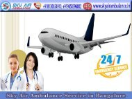 Book the Service of Renowned Air Ambulance in Bangalore