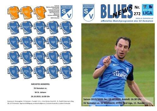 Blues News 272: Heimspiel gegen SV Kirchbichl