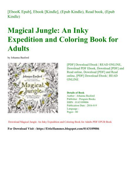 DOWNLOAD FREE Magical Jungle An Inky Expedition and Coloring ...
