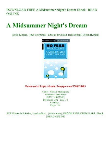 a midsummer nights dream free pdf