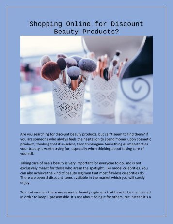 Shopping Online for Discount Beauty Products