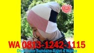Distributor Bandana Rajut 4 Warna, WA 0813-1242-1115