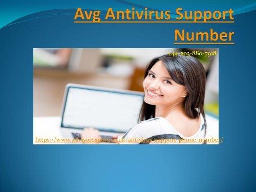 Avg Antivirus Support Number +44-203-880-7918