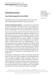 Pressemitteilung: Neue Beatmungsgeräte bei der RKiSH