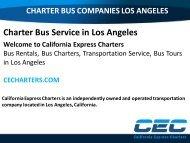 Bus Rental Los Angeles