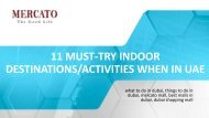 11 Must-Try Indoor Activities When In UAE