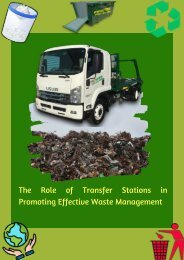 The Role of Transfer Stations in Promoting Effective Waste Management