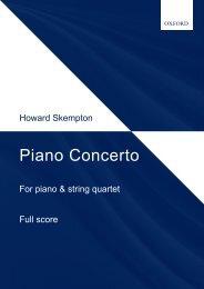 Skempton: Piano Concerto (piano and string quartet)