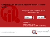 Airborne ISR Market Research Report - Global Forecast to 2023
