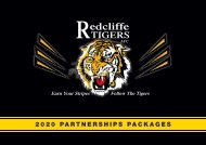 Redcliffe Tigers AFC 2020 Partnership Packages