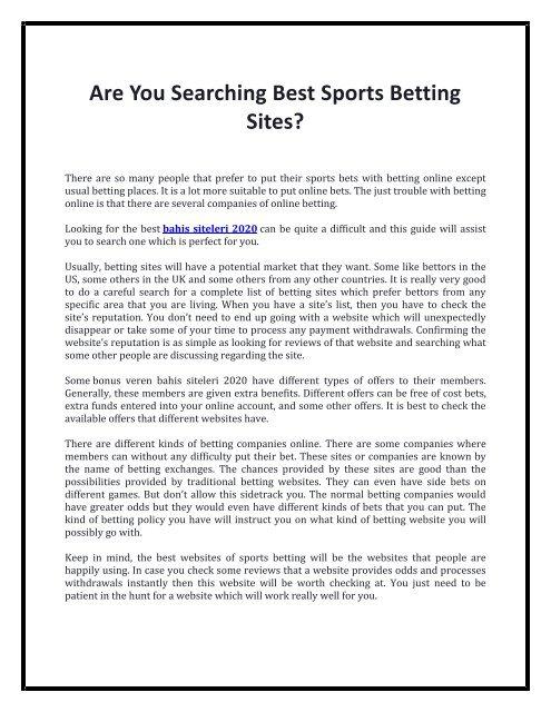 Bahis siteleri free betting contrarian betting sports