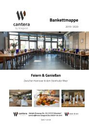 cantera by Wiegand – Bankettmappe