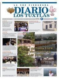 Edición de Diario Los Tuxtlas del día 14 de octubre de 2019