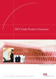 SICS Cede Product Overview