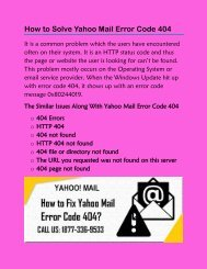 How to Solve Yahoo Mail Error Code 404
