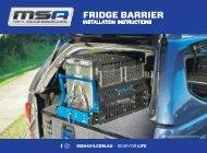 Fridge Barrier Installation Instructions - FBDSN Models - 2019