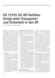 EN 13795 für OP-Textilien bringt mehr Transparenz und Sicherheit ...