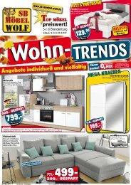 Wohntrend-Angebote: individuell und vielfältig - SB Möbel Wolf 3x in Brandenburg