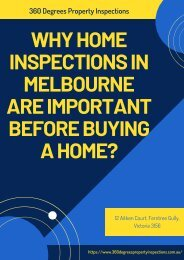 Why Home Inspections in Melbourne are Important before Buying a Home?