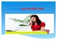 Bitdefender Antivirus Support Number+44-203-880-7918