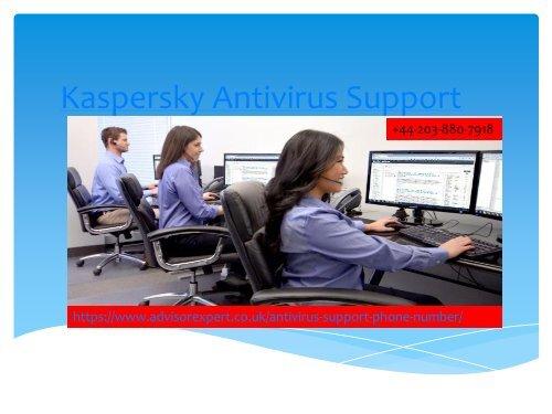 Kaspersky Antivirus Support Number +44-203-880-7918