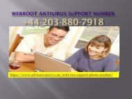 Webroot Antivirus Support Number