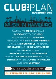 Clubplan Hamburg - November 2019