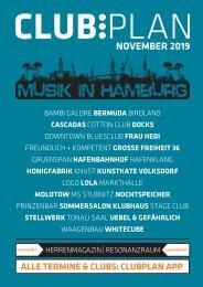 Clubplan Hamburg - November 2019