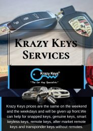 Perth Locksmith & Car Keys Replacement | Krazy Keys