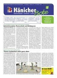 Hänicher Bote | Oktober-Ausgabe 2019