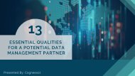 13 Essential Qualities for a Potential Data Management Partner