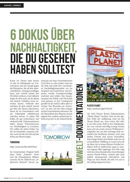 AJOURE´ Magazin November 2019