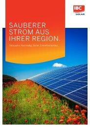 Sauberer Strom aus Ihrer Region.