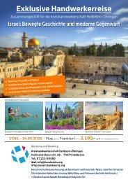 Handwerkerreise Israel