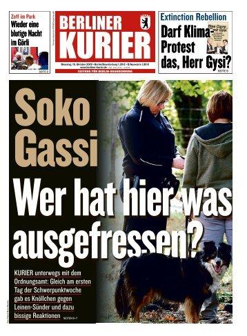 Berliner Kurier 15.10.2019