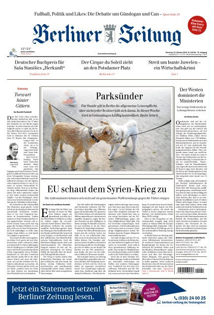 Berliner Zeitung 15.10.2019