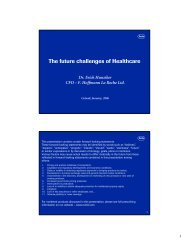 The future challenges of Healthcare