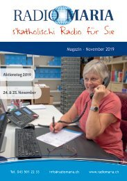 Radio Maria Magazin - November 2019