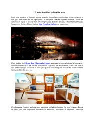 Private Boat Hire Sydney Harbour