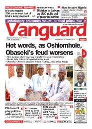16102019 - Hot words, as Oshiomhole, Obaseki's feud worsens