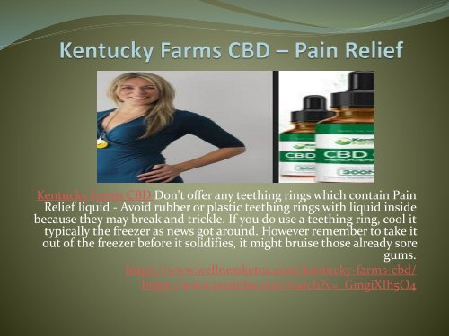 Kentucky Farms CBD - You Can Get All The Health Benefits