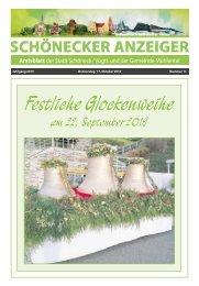 Schönecker Anzeiger Oktober 2019
