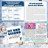 Fit und gesund durch den Winter